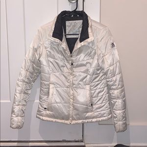 White puffy jacket